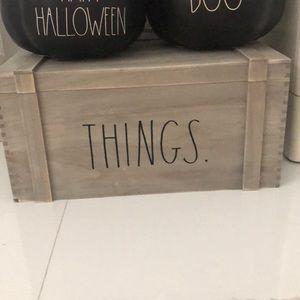 RAE DUNN THINGS WOODEN BOX BIG